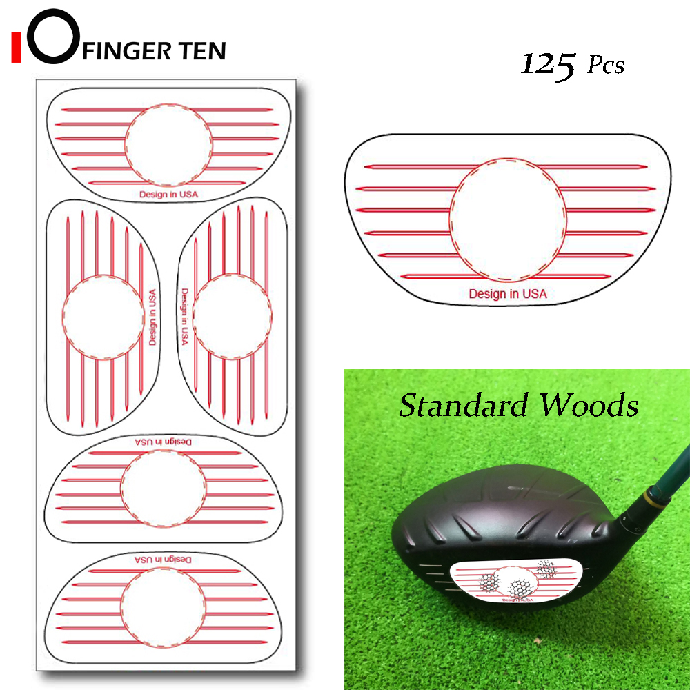 125 Pcs Golf Club Impact Labels Target Sticker Tape Driver Woods Sweet Dot Test Paper For Swing Practice