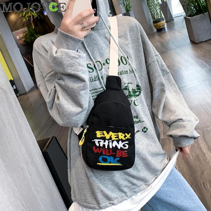 2020 New Design Teenage Girls Shoulder Bag Hip Hop Waist Chest Pack Trendy Crossbody Bags Fashion Korean Women Chest Handbag