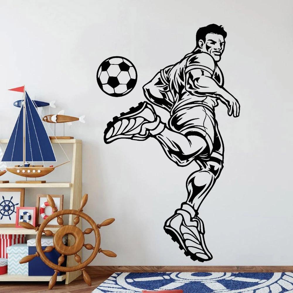 The kicker must not touc. Soccer Player Wall Decals Sport Boys Room Sports Fan Vinyl Bedroom Headboard Background Wall Stickers Art Decoration Z345 Wall Stickers Aliexpress