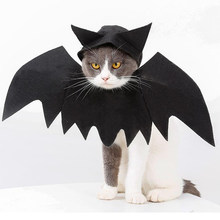 Halloween Pet Dogs Cat Black Bat Wing Costume Cute Fancy Dress Festival(China)