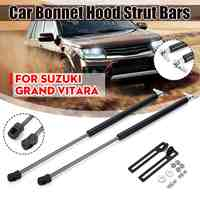 2 pçs capa de motor dianteiro do carro capô choque elevador struts barra suporte haste braço mola de gás para suzuki grand vitara 2012 2013-2018