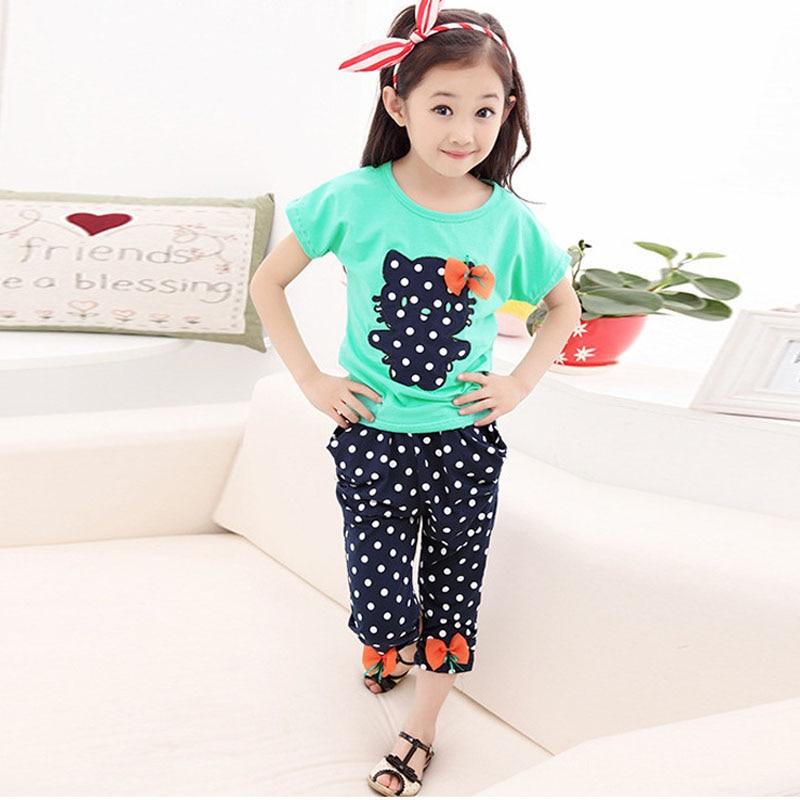Одежда для девочек футболка с короткими рукавами и рисунком