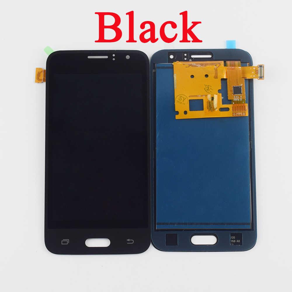 """4.3 """"لسامسونج غالاكسي J1 2016 شاشة LCD SM-J120F J120H J120M شاشة الكريستال السائل لوحة مجموعة المحولات الرقمية لشاشة تعمل بلمس استبدال"""