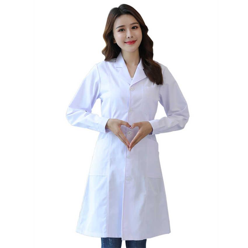 קיץ רפואי מדים חולים מרפאת שיניים אחות בגדי קצר & ארוך שרוול יופי סאלו מרקחת לשפשף מעבדה מעיל גלימות