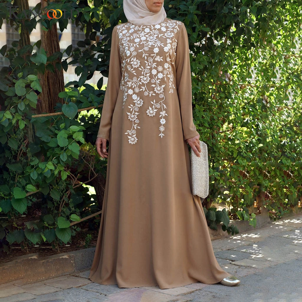 KANCOOLD Woman Abaya Muslim Dress Plus Size 5xl Turkish Caftan Moroccan Kaftan Hijab Evening Dress Islamic Clothes
