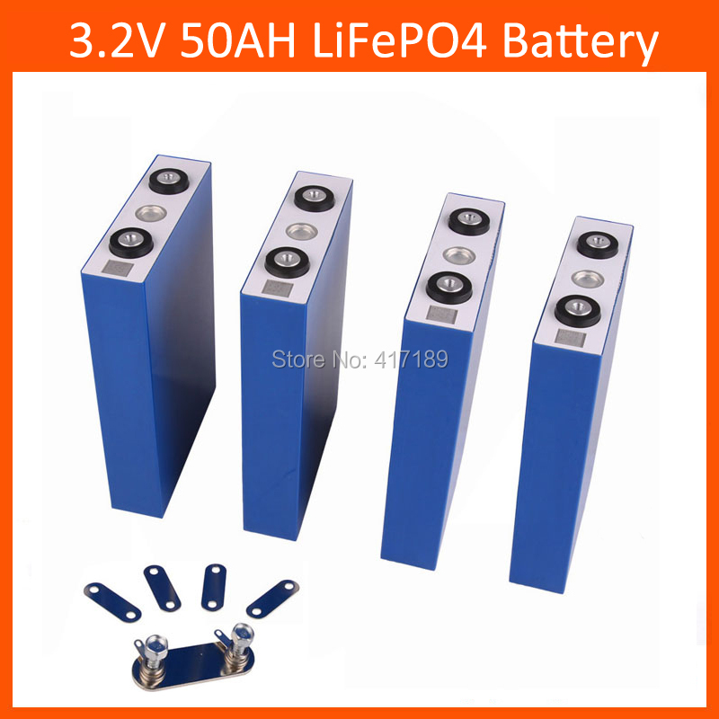 4pcs/lot <font><b>3.2V</b></font> 50Ah <font><b>lifepo4</b></font> cell with 2000 times life cycle for electric vehicles/storage system/UPS image
