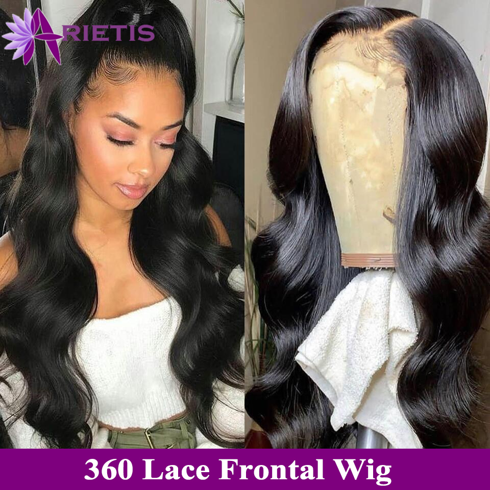 360 Lace Frontal Wig Body Wave Lace Front Human Hair Wigs Natural Hair With Baby Hair For Black Women Arietis Remy Peruvian Hair