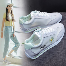 Breathable 2020 Summer New Fashion Sneakers Woman Casual Shoes Flats Shoes Woman Low-cut Solid Lace-up Ladies Shoes High Quality 2019 hot womens fashion sneakers flying shoes platform shoes new woman casual low cut lace up high qualtiy europe brand design
