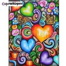 Diamentowe malowanie pełne kwadratowe okrągłe wiertło kolorowe serce 5D Daimond malowanie haft Cross Stitch mozaika kryształowa obraz Z1546 tanie tanio Colorwhisper Obrazy PAPER BAG Pojedyncze Akrylowe Pełna cartoon Zwinięte 30-45 Plac Nowoczesne Square Round Good quality