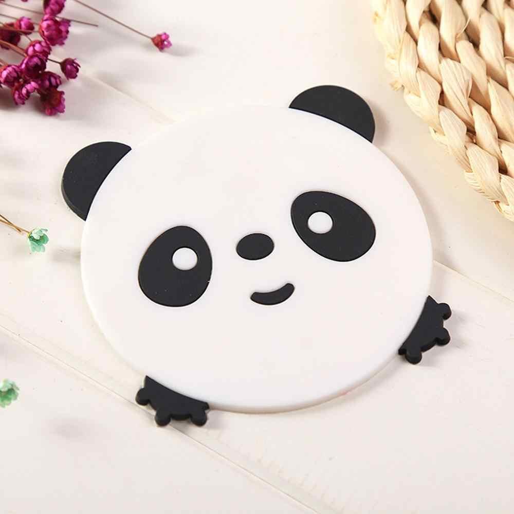 2Pcs Cartoon Coasters Silicone Placemat Cushion Mug Tableware Cup Tea Pad Mat coaster set de table manteles individuales @25