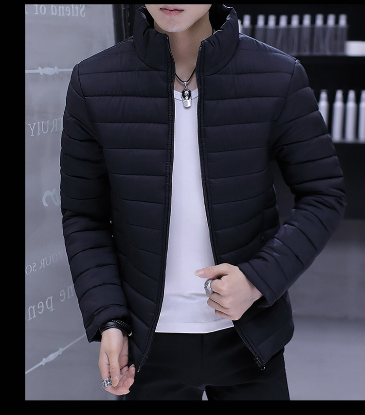 2019 Men Slim Fit Thicken Plus Size Down Jacket Autumn Winter New Casual Fashion Long Sleeve  Youth Self-Cultivation Down Jacket