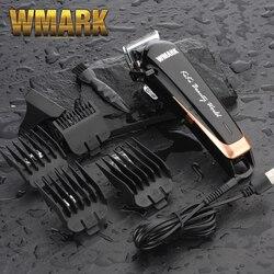 WMARK NG-103 cortador de pelo inalámbrico profesional recortador de pelo 6500-7000 rpm palanca de corte ajustable 10W de potencia