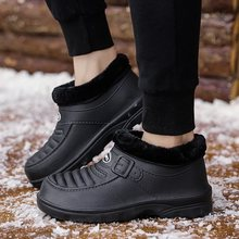 Winter Mens Boots Plush EVA Home Shoes Casual Ankle Boots Slip On Light Weigh Outside Boots Comfortable Boots Men Zapatos Homre(China)