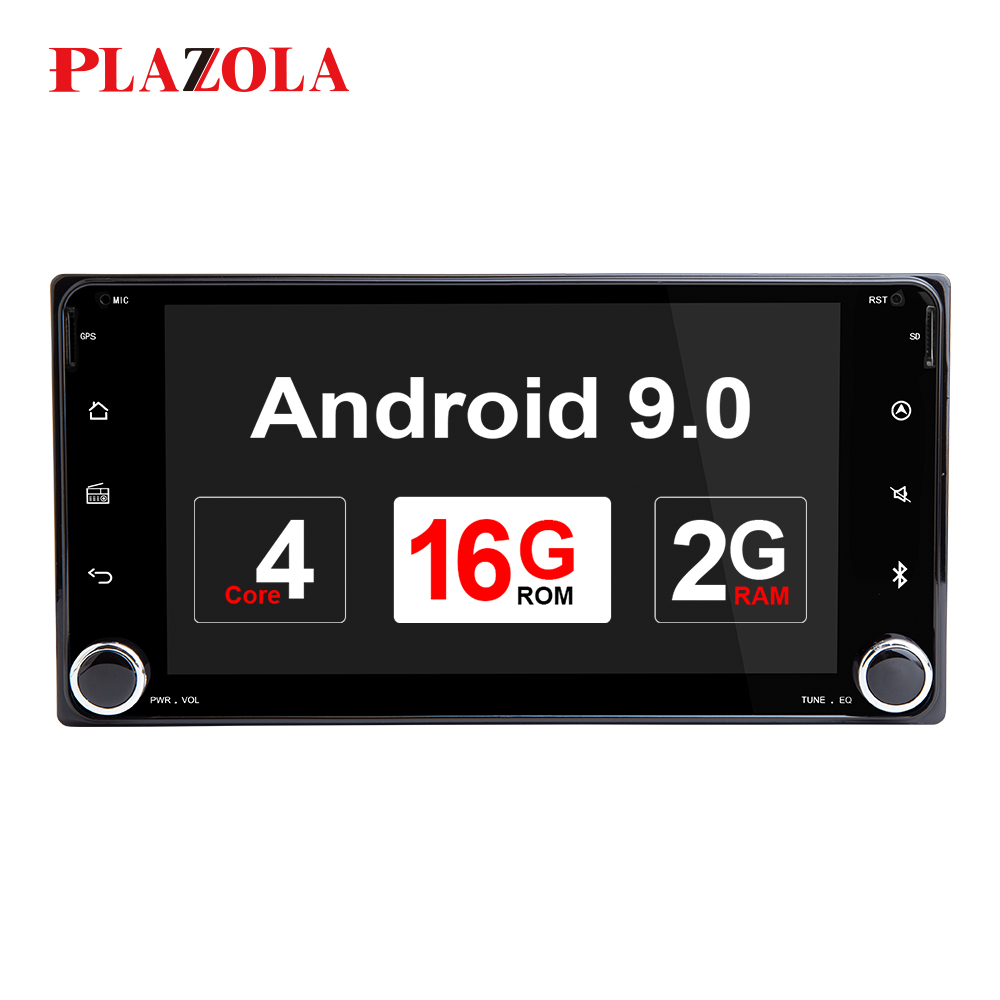AutoRadio 2din Android 9.0 Car Multimedia Player For Toyota Land Cruiser <font><b>100</b></font> <font><b>200</b></font> Prado 120 150 Rush Corolla Hiace Yaris Hilux image