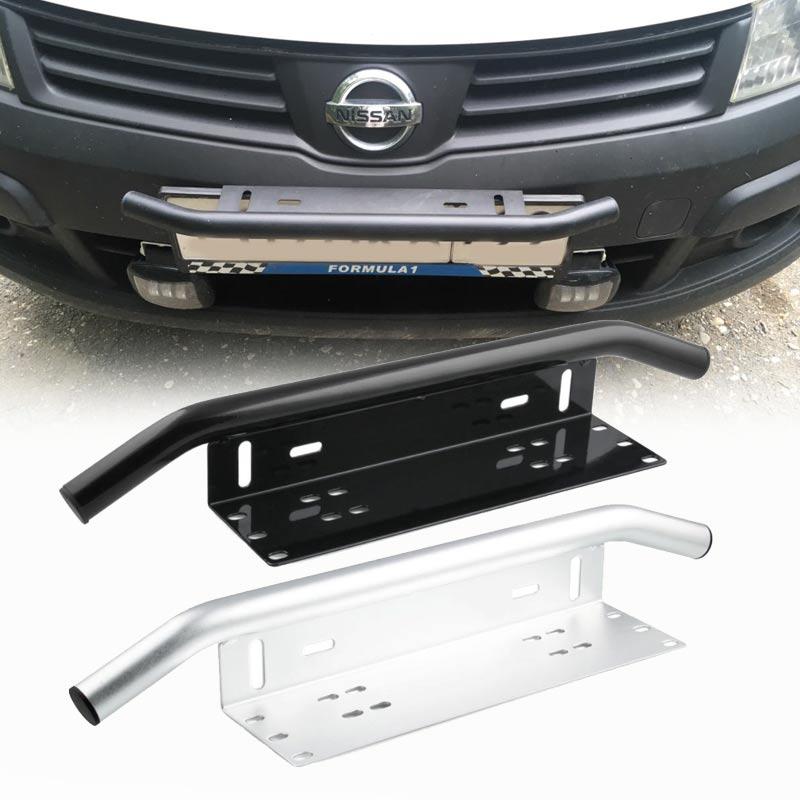 Plaque de pare-choc avant universel PZK001, barre de lumière LED tout-terrain en aluminium, support de lampe SUV