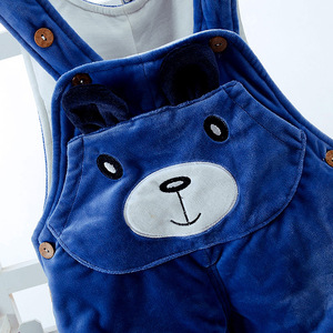 Image 5 - Winter Baby Set Boy Clothes for Newborn Thick Warm Baby Jumpsuit Overalls 2pcs Infant Clothing Sets Outfits Toddler Girl Clothes