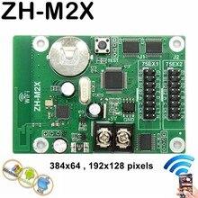 Cartão de controle assíncrono do diodo emissor de luz de usb do controlador da cor completa de ZH-M2X wifi com 2 * hub75 porto 384*64 pixels para p3, p4,p5,p10 módulo