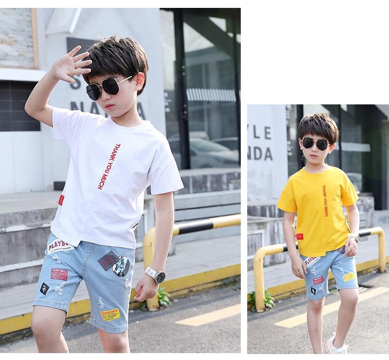 camiseta manga curta + calças conjunto duas