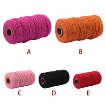 Multicolor Kerajinan Seni DIY Bakers Twine Kapas Tali Macrame Cotton Cord untuk Dinding Gantung Dream Catcher 3.5MM X 100M Dekorasi(China)