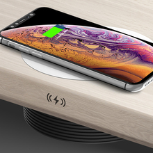 QI Invisible Wireless charger Charging Desk Stick charger Concealed Long Distance Charger Furniture Office Desktop Wireless Base