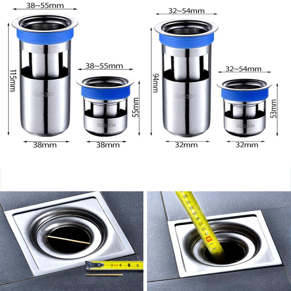 Stainless Steel Deodorant Floor Drain Core Deep Water Seal Cores For Bathroom Toilet Sewer Drain Core