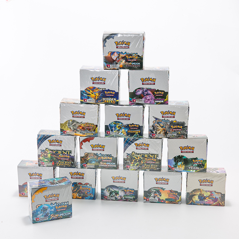 324 шт. забавные карты Sun Moon Pokemon GX EX VMAX Box английские коллекционные игровые карты feyenoord Battle Carte торговая блестящая игра Chil