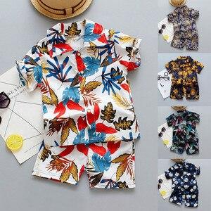 Mardi Gras Kleding Nieuwe Baby Jongens Mode Bloemenprint Tops + Shorts Outfit Set Kleren Europese Kinderkleding 2020(China)