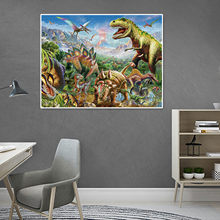 2000 sztuka dinozaur świat puzzle 2mm papieru budynku montażu zabawki dla dzieci dorosłych uśmierzenie lęku Fidget puzzle dla Kid