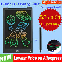 12 Inch LCD Writing Tablet Electronic Drawing Doodle Board Digital Colorful Handwriting Pad Gift for Kids and Adult Protect Eyes