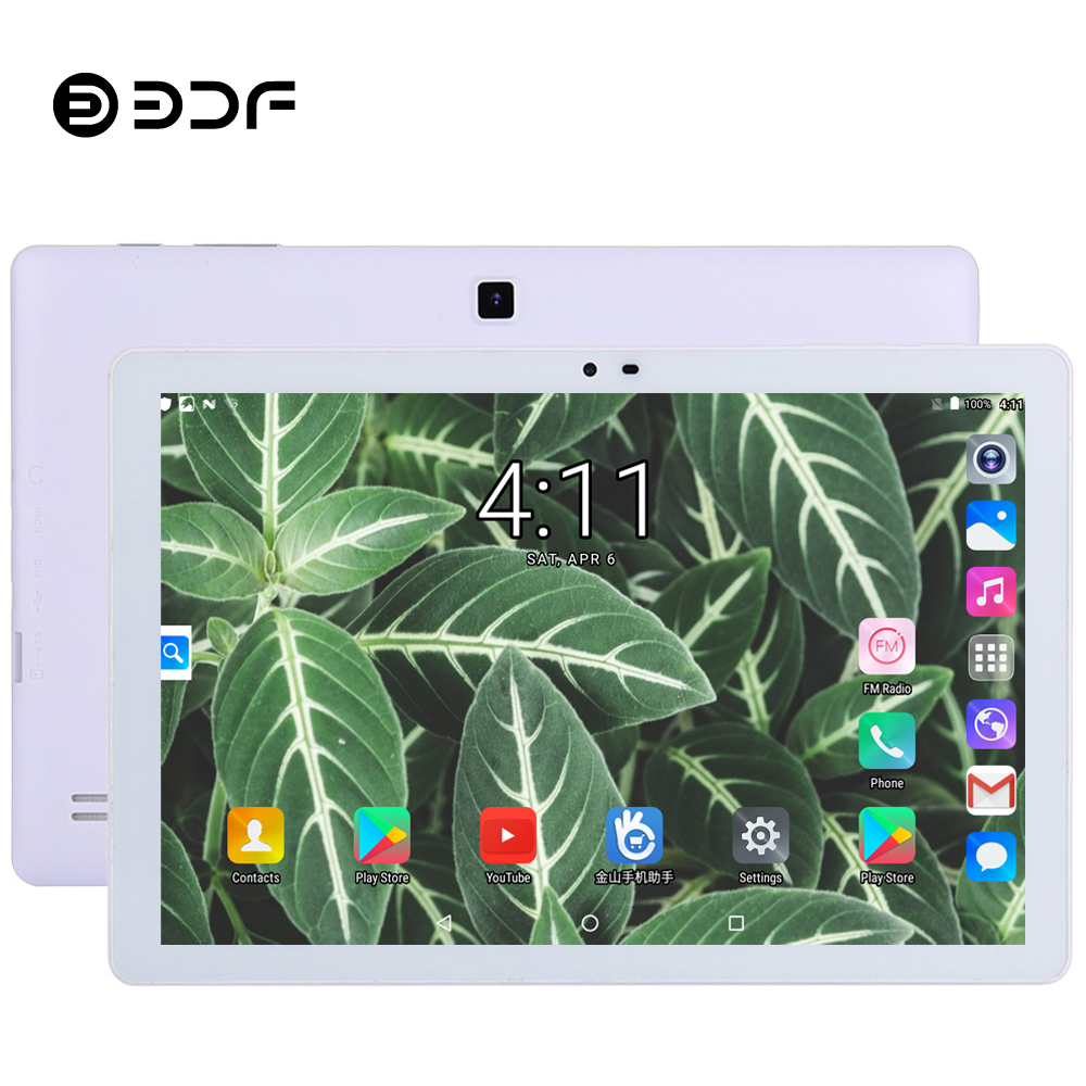BDF Tablet 10.1 Inch Tablet Pc Android 5.0 Quad Core Google Play 1GB/32GB 1280*800 IPS Small Computer Bluetooth WiFi Tablets 10