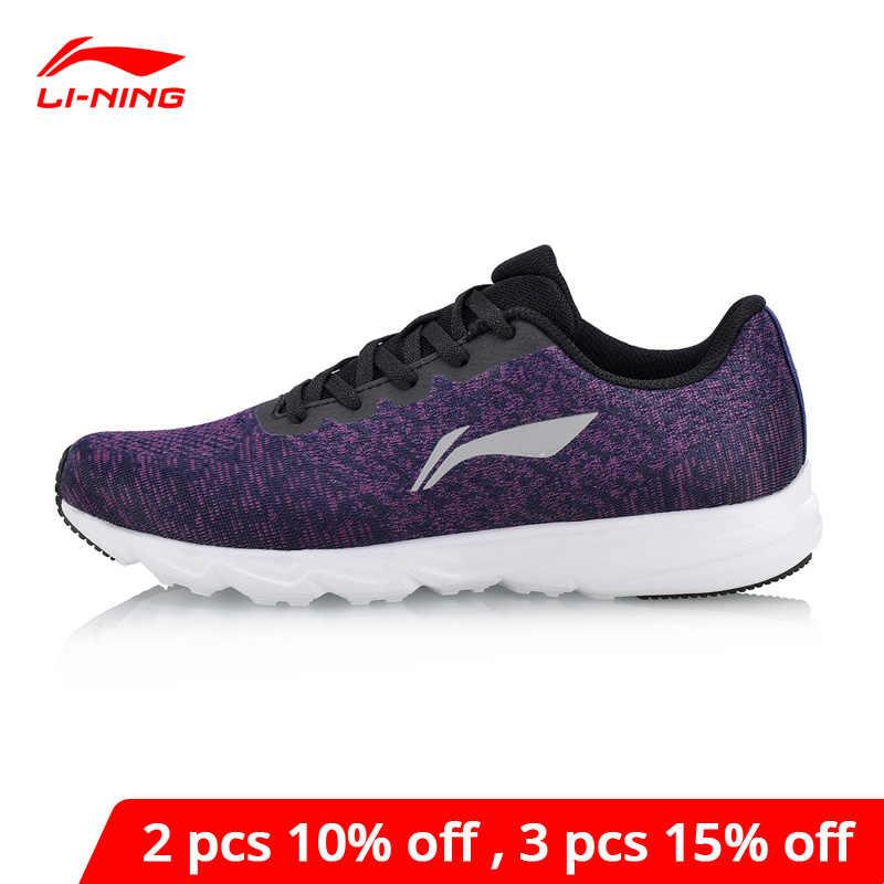 Li-Ning Vrouwen Ez Run Loopschoenen Lichtgewicht Ademend Sneakers Voering Li Ning Wearable Anti-Slip Sport schoenen ARBN024 XYP639