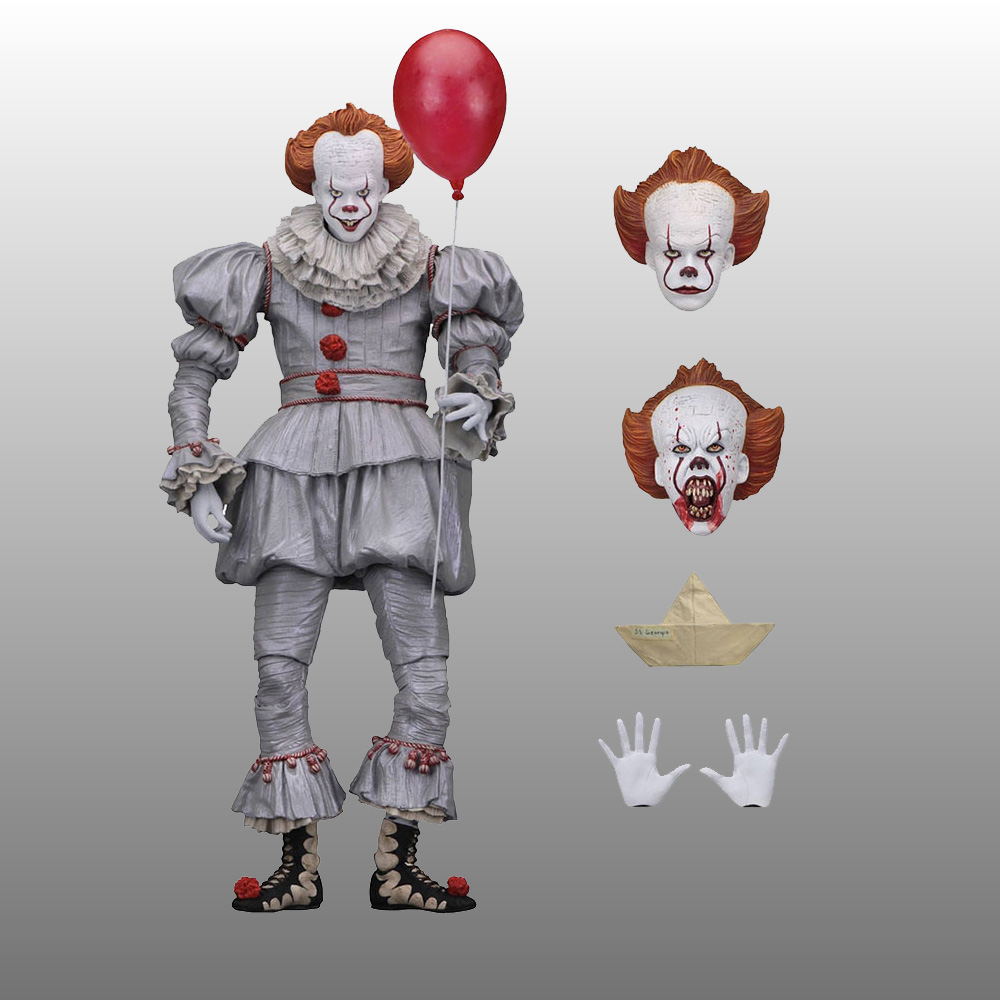 NECA Stephen del Re Si Pennywise PVC Action Figure Da Collezione Model Toy