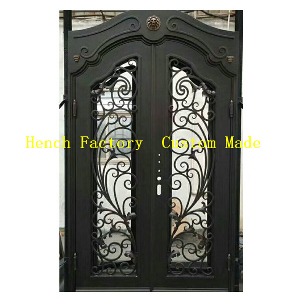 Shanghai Hench Brand China Factory 100% Custom Made Sale Australia Wood And Iron Entry Doors