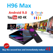 лучшая цена H96 MAX RK3318 Smart TV Box Android 9.0 4 GB RAM dazn 4 K WiFi Media Player Google stem usb 3.0 Assistent Youtube 4K top box tv