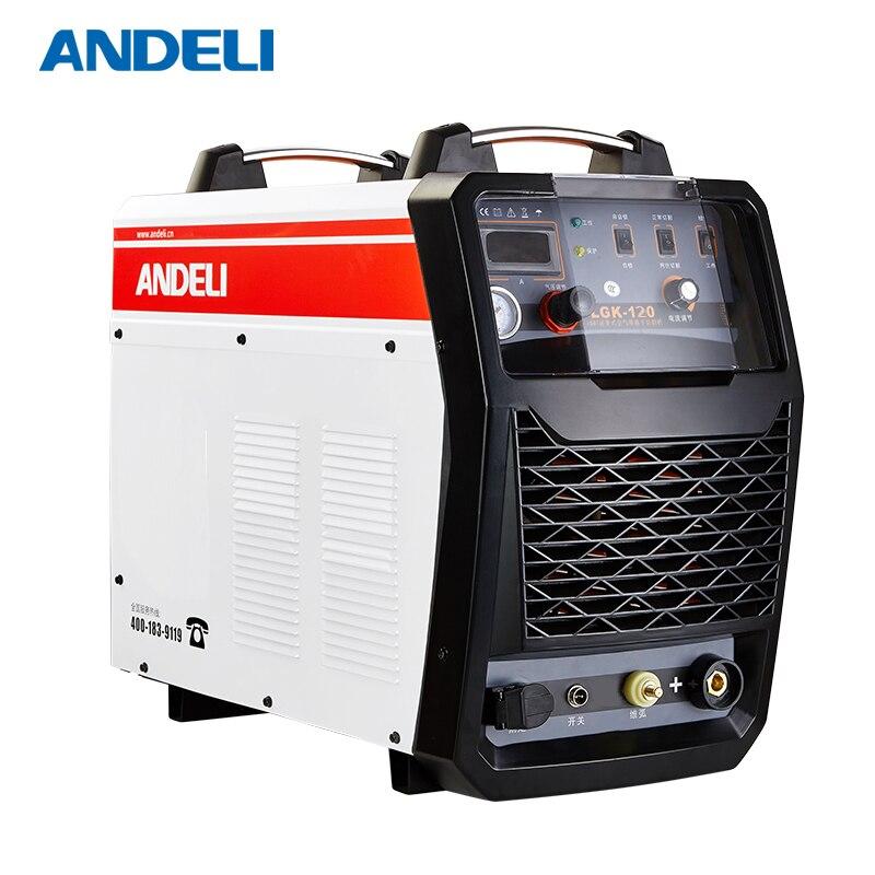 ANDELI Drei Phase Cut Stahl Rohr 380V Air Tragbare CNC schweißen ausrüstung Plasma schneiden schweißer CUT-120 plazma cutter für metall