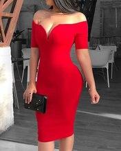 Женское элегантное однотонное облегающее платье соблазнительное
