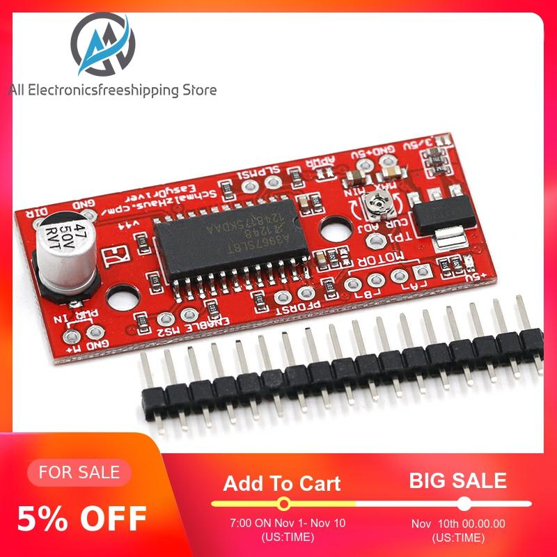 1pcs A3967 EasyDriver Stepper Motor Driver V44 For Arduino Development Board 3D Printer A3967 Module