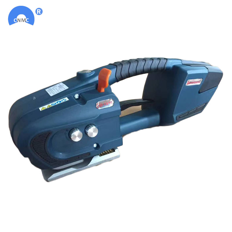Two Battery Powered PET PP Strapping Tools 13mm-16mm For Pallet Wrapping Machine Electrical Strapping Tool