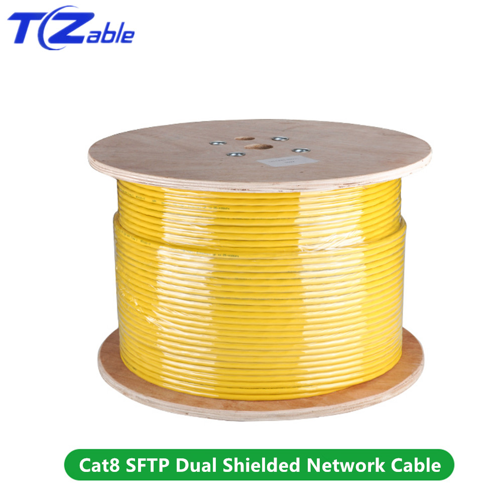 Image 5 - 40Gbps 2000MHz Cat8 SFTP Dual Shielded Network Cable Support POE 100W Ethernet Cable 5M 10M 30M 50M 100M