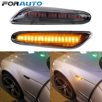 1Pcs Smoke LED Side Marker Light Flowing Water Indicator Turn Signal Lights For BMW E90 E91 E92 E93 E60 E87 E82 E61 Error Free image