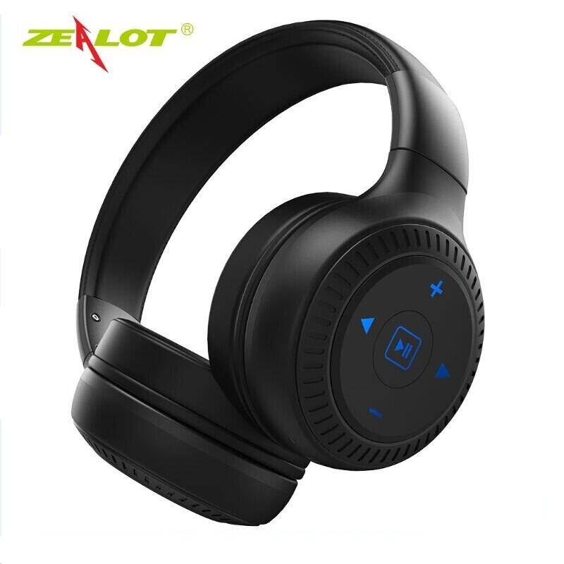 Casque d'écouteurs stéréo Bluetooth zélot B20 avec Microphone avec contrôle tactile de basse casque sans fil pour téléphones ordinateur