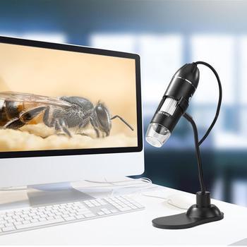 USB 2 0 cyfrowa endoskop mikroskopowa kamera doskonała IC i elementy elektroniczne endoskop lupa z metalowy stojak tanie i dobre opinie VKTECH CN (pochodzenie) Microscopes Cyfrowy PORTABLE Monokularowy
