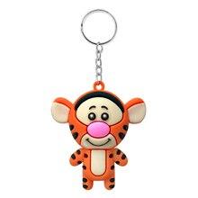 Cute cartoon Tigger PVC soft pendant female creative animal small gift pendant car keychain accessories