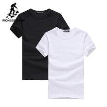 파이어 니어 캠프 2 팩 프로모션 Tshirt 남성 브랜드 의류 짧은 소매 단색 티셔츠 남성 캐주얼 tshirt 패션 망