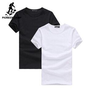 Image 1 - Pioneer Camp 2 pack promoting camiseta marca de hombres ropa de manga corta sólida camiseta masculina casual camiseta de moda para hombres