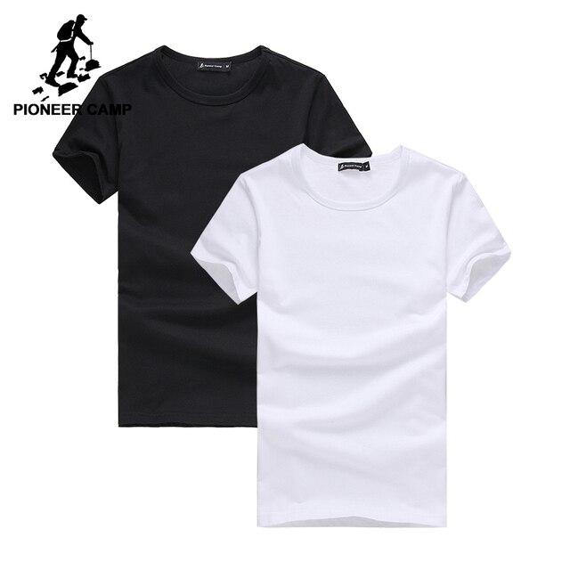 Pioneer Camp 2 pack promoting camiseta marca de hombres ropa de manga corta sólida camiseta masculina casual camiseta de moda para hombres