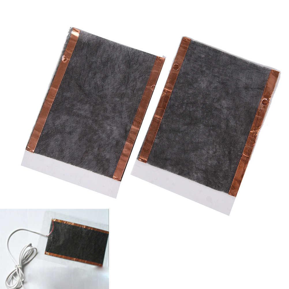 1 Pasang Bantalan Pemanas DIY Portabel USB Penghangat Ruangan Pemanas Musim Dingin Hangat Piring untuk Sepatu Sarung Tangan Mouse Pad