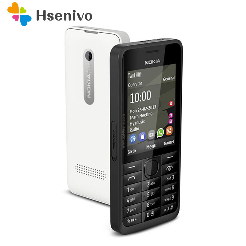 Hot Sale Unlocked Nokia 301 Original GSM 2.4`` Dual SIM Cards 3.2MP Mobile Phone Refurbished
