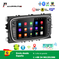 AMPrime 7'' Android 8.1 Car Multimedia Player for Focus Mondeo C MAX S MAX Galaxy II Kuga Support GPS WIFI Bluetooth Mirror link