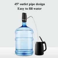 Bomba de garrafa de água  distribuidor de água automático de carregamento usb protable compacto elétrico bomba de água potável se encaixa para 5 galões univer|  -